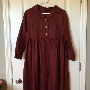Roolee red long sleeve dress